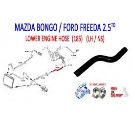 MAZDA BONGO 2.5TD 1995 - 2006 PATTERN COOLANT HOSE ( 185A ) AJU598007
