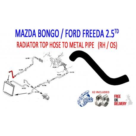 MAZDA BONGO 2.5TD 1995 - 2006 PATTERN COOLANT HOSE (183 ) AJU598004