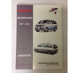 COMPATIBLE WITH NISSAN ELGRAND E50 3.5 V6 PETROL WORKSHOP MANUAL 1997 - 2002