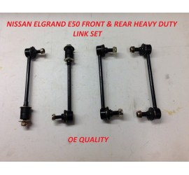 Compatible With Nissan Elgrand E50 3.0DT Front & Rear Anti-Roll Bar Link Set