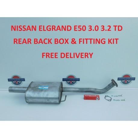 ELGRAND 3.0TD EXHAUST REAR BOX AJU16001