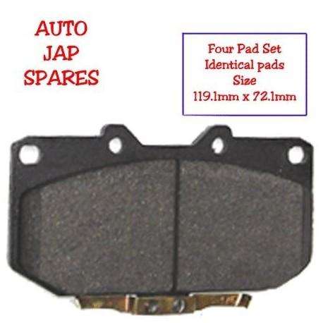 COMPATIBLE WITH NISSAN 300ZX Z32 TURBO FRONT BRAKE PADS 1989 - 2000