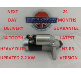 NEW MAZDA RX8 HEAVY DUTY UPRATED 2.2 KW LATEST 14 TOOTH N3R3 STARTER MOTOR