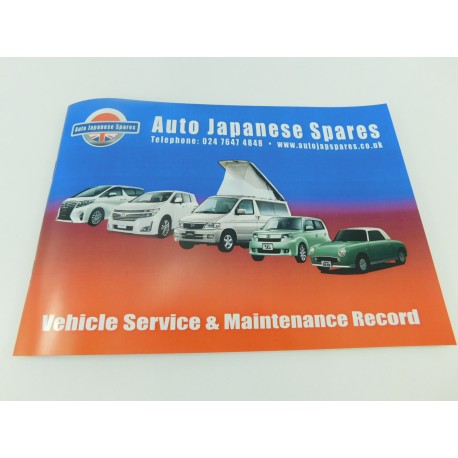 NEW SERVICE & MAINTENANCE RECORD BOOKLET FOR YOUR IMPORT