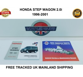 HONDA STEPWAGON 1996-2001 OWNERS MANUAL / HANDBOOK & FREE SERVICE BOOKLET