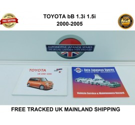 Toyota bB 2000 to 2005 Ownerγ Manual / Handbook & Free Service Record Booklets