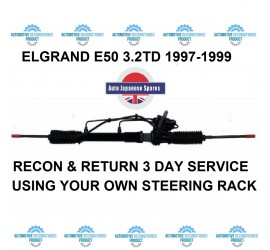 E50 3.3i 1997-2002 Recon & Return 3 Day Service On Your Own Steering Rack