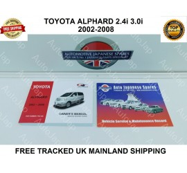 02-08 Alphard Owners Manual/Handbook & Free Service Booklet