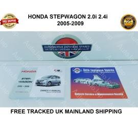 Honda Stepwagon 2005 - 20009 Ownerγ Manual & Free Service Record Booklet