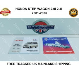 HONDA STEPWAGON 2001-2005 OWNERS MANUAL / HANDBOOK & FREE SERVICE BOOKLET