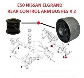 ELGRAND E50 REAR TRACK CONTROL BUSH 2 PIECE KIT