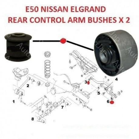 COMPATIBLE WITH NISSAN ELGRAND E50 3.0TD 95-02 REAR TRACK CONTROL BUSH