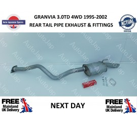 3.0DT 4WD 3 STUD REAR TAIL PIPE EXHAUST & FITTINGS