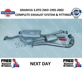 1995 - 2002 GRANVIA  3.0DT 2WD COMPLETE EXHAUST SYSTEM