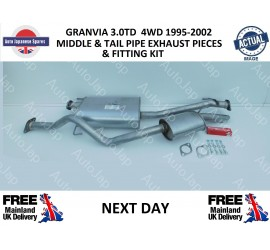 TOYOTA GRANVIA 1995 - 2002 3.0DT 4WD MIDDLE AND TAIL PIPE EXHAUST KIT