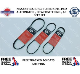 Nissan Figaro Alternator, Power Steering & Air Con Belt Kit