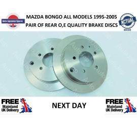 MAZDA BONGO 1995 - 2006 2.5TD REAR BRAKE DISCS AJM54388